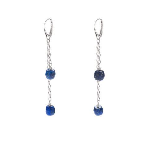 Przepiękne kolczyki z lapis lazuli